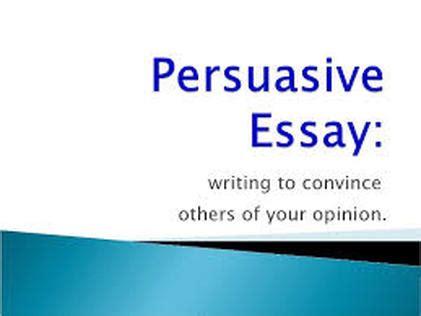 Good sentence starters for persuasive essays for high school